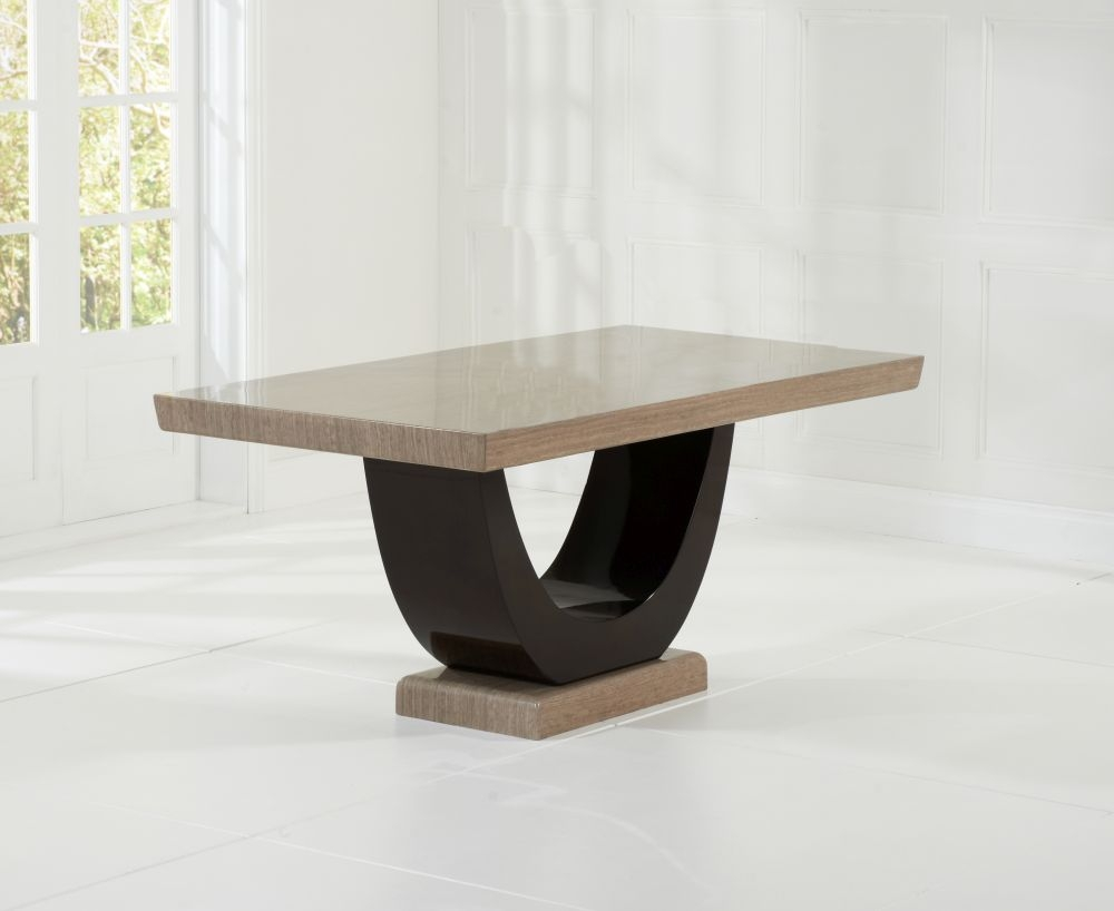Mark Harris Rivilino Brown Marble Dining Table - 170cm Rectangular