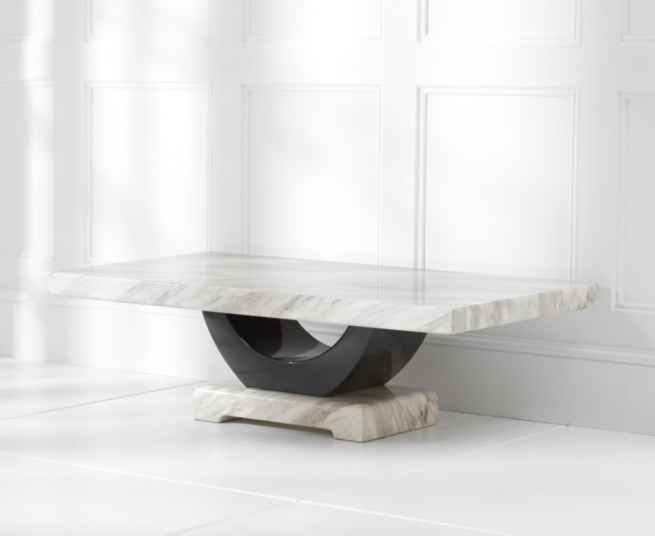 Mark Harris Rivilino Cream Marble Coffee Table
