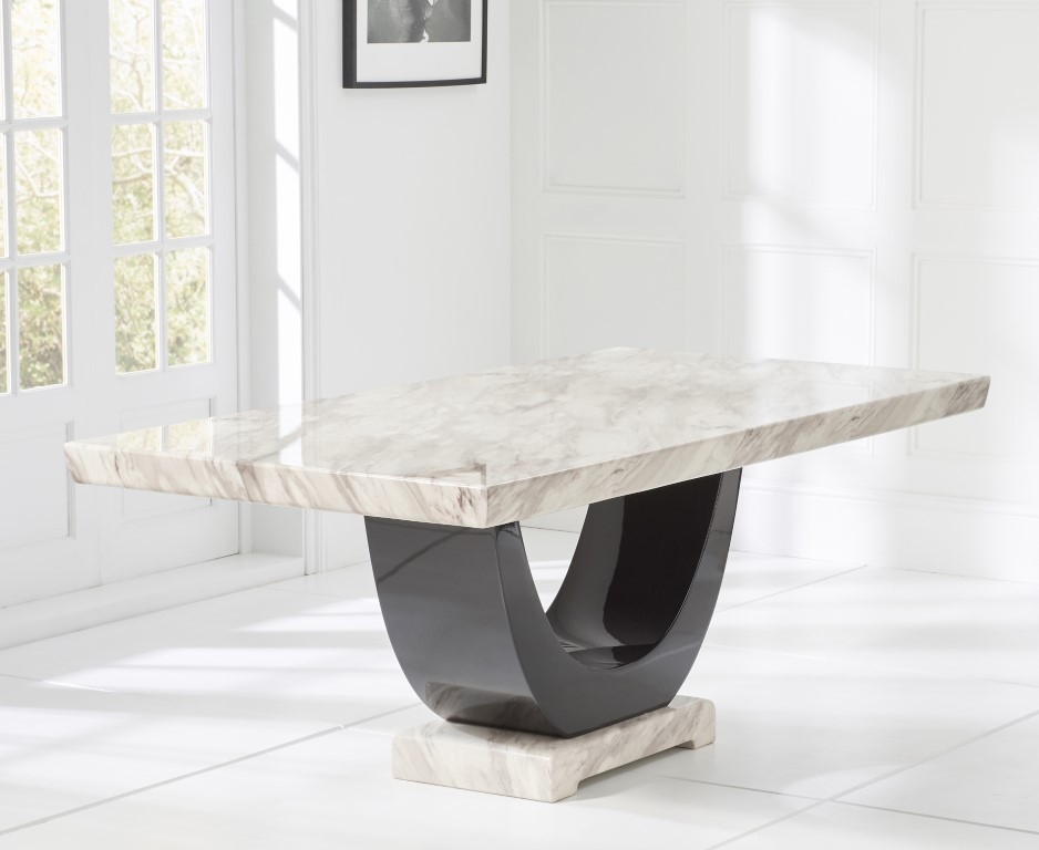 Mark Harris Rivilino Cream Marble Large Dining Table