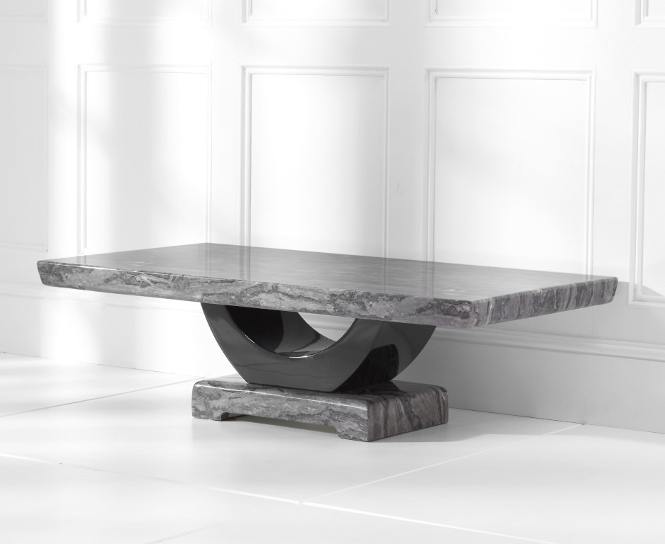 Mark Harris Rivilino Dark Grey Marble Coffee Table