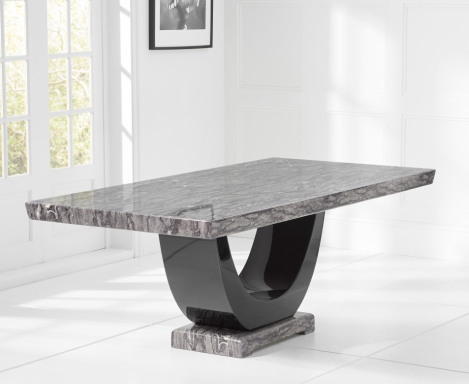 Mark Harris Rivilino Dark Grey Marble Large Dining Table