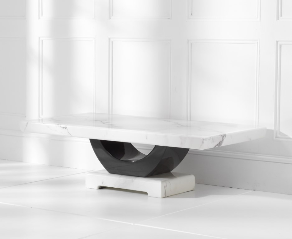Mark Harris Rivilino White Marble Coffee Table