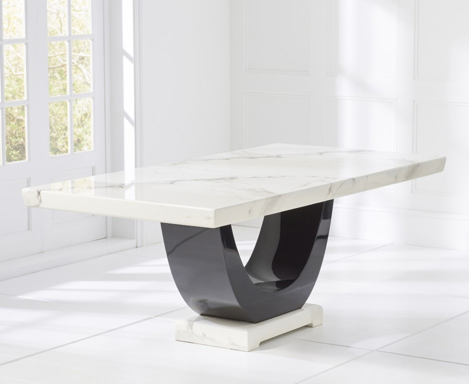 Mark Harris Rivilino White Marble Large Dining Table