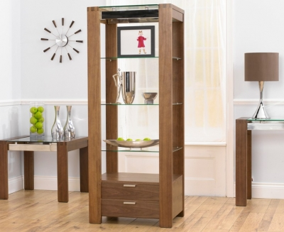 Mark Harris Roma Walnut and Glass Display Unit