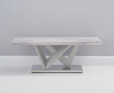 Mark Harris Rosario Light Grey High Gloss Marble Top Coffee Table