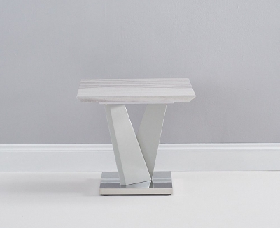 Mark Harris Rosario Light Grey High Gloss Lamp Table