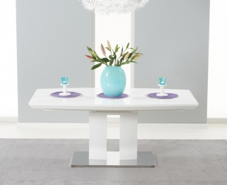 Mark Harris Rossini White High Gloss 180cm-220cm Extending Dining Table