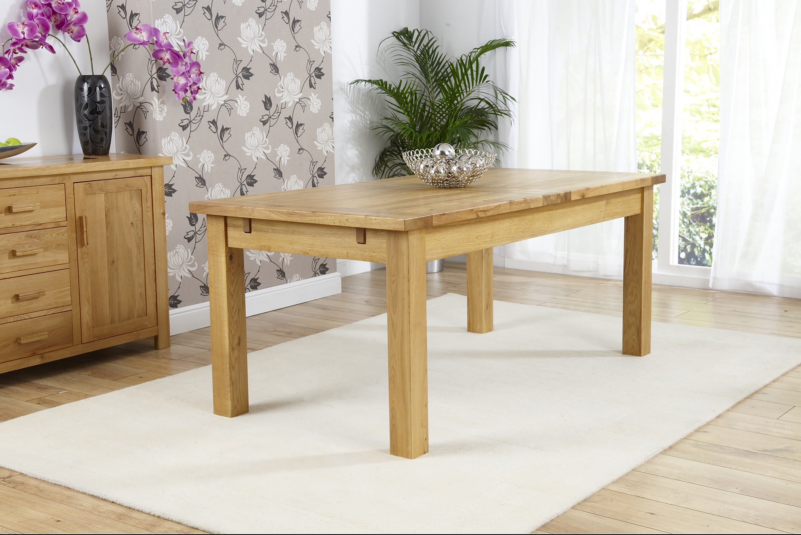 Mark Harris Rustique Oak Large Extending Dining Table