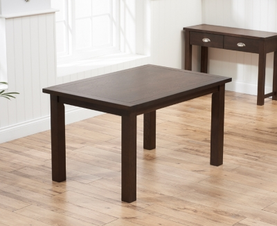 Mark Harris Sandringham Solid Dark Oak 130cm Fixed Top Dining Table