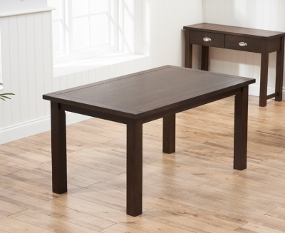 Mark Harris Sandringham Solid Dark Oak 150cm Fixed Top Dining Table