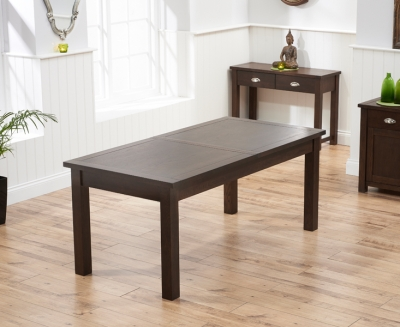 Mark Harris Sandringham Solid Dark Oak 180cm Extending Dining Table