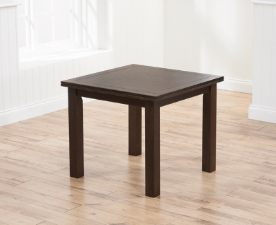 Mark Harris Sandringham Solid Dark Oak 90cm Flip Top Extending Dining Table