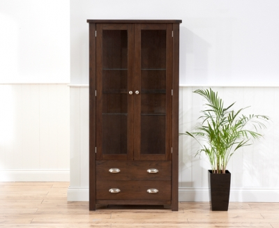 Mark Harris Sandringham Solid Dark Oak Display Unit