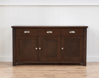 Mark Harris Sandringham Solid Dark Oak Sideboard with 3 Door and 3 Drawer