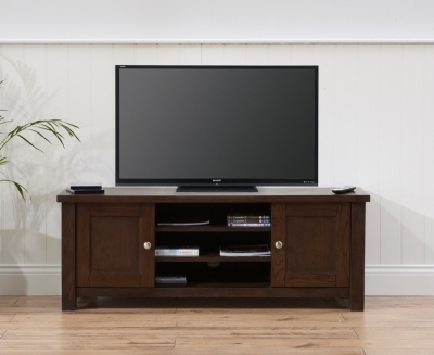 Mark Harris Sandringham Solid Dark Oak TV Unit