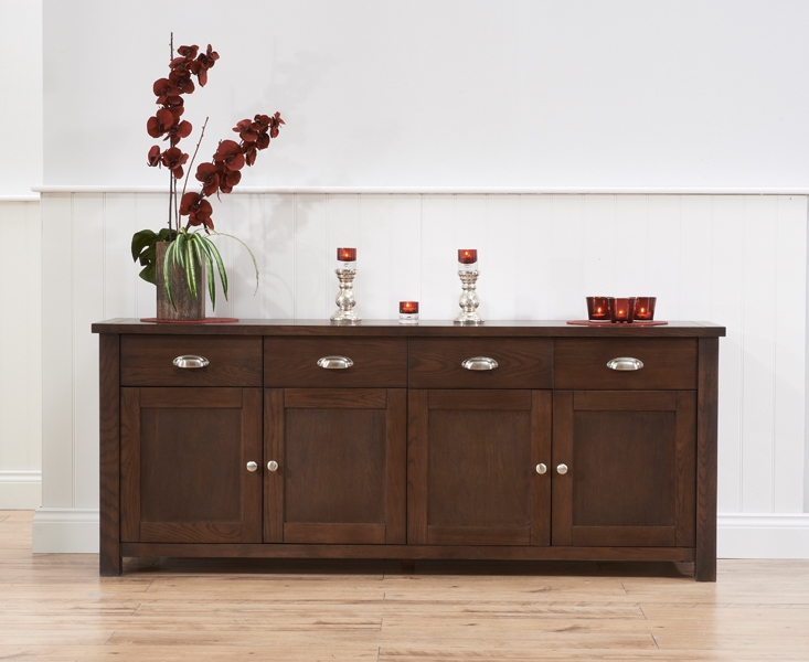 Mark Harris Sandringham Solid Dark Oak Sideboard with 4 Door and 4 Drawer