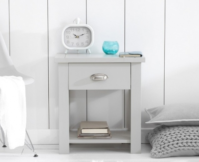 Mark Harris Sandringham Grey 1 Drawer Bedside Cabinet