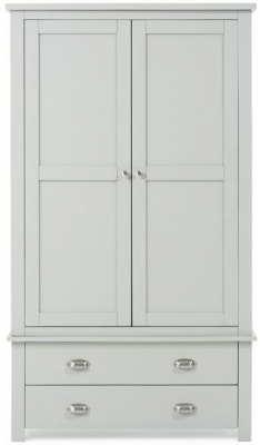 Mark Harris Sandringham Grey 2 Drawer Gents Wardrobe