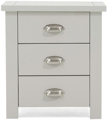 Mark Harris Sandringham Grey 3 Drawer Bedside Cabinet