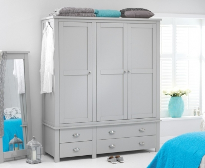 Mark Harris Sandringham Grey Triple Wardrobe