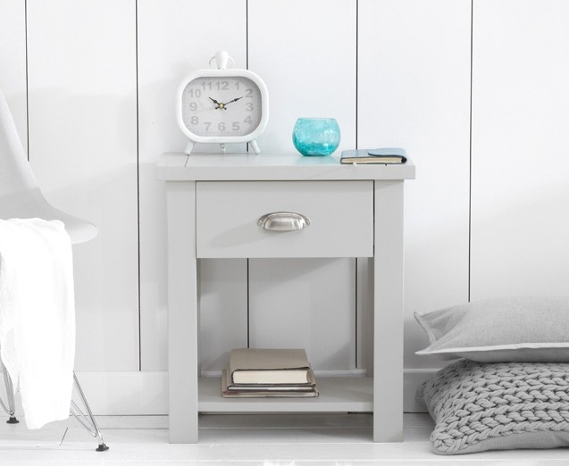 Mark Harris Sandringham Grey Bedside Cabinet - 1 Drawer