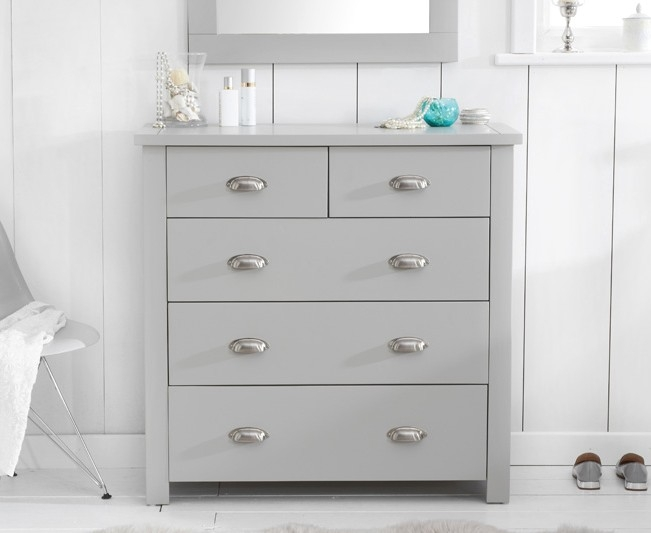 Mark Harris Sandringham Grey Painted 3+2 Drawer Chest