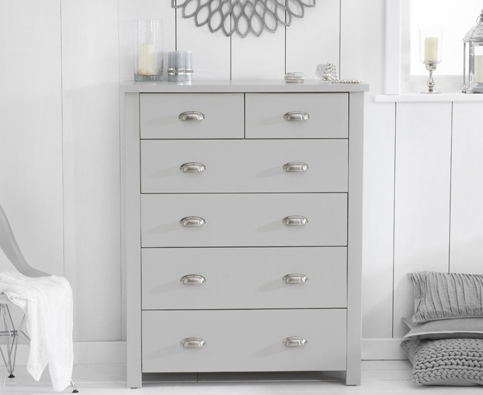 Mark Harris Sandringham Grey Painted 4+2 Drawer Chest