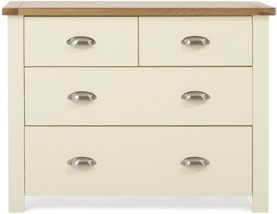 Mark Harris Sandringham Oak and Cream 2 Over 2 Chest of Drawer