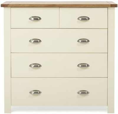Mark Harris Sandringham Oak and Cream 3 Over 2 Chest of Drawer
