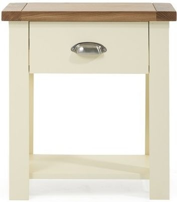 Mark Harris Sandringham Oak and Cream 1 Drawer Bedside Cabinet