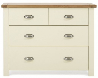 Mark Harris Sandringham Oak and Cream 2+2 Drawer Chest