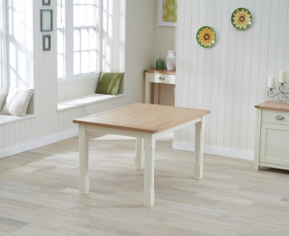 Mark Harris Sandringham Oak and Cream 130cm Dining Table