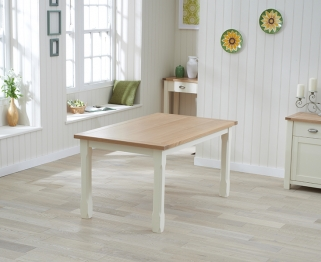 Mark Harris Sandringham Oak and Cream 150cm Dining Table