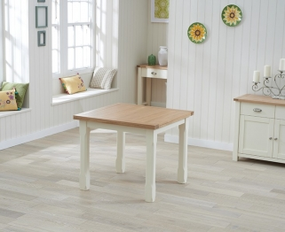 Mark Harris Sandringham Oak and Cream 90cm Flip Top Dining Table