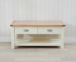 Mark Harris Sandringham Oak and Cream Coffee Table