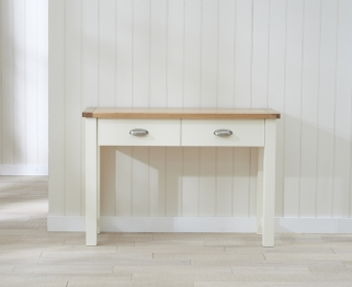 Mark Harris Sandringham Oak and Cream Console Table