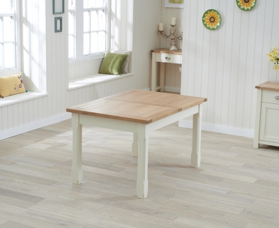 Mark Harris Sandringham Extending Dining Table - Oak and Cream