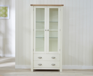 Mark Harris Sandringham Oak and Cream Display Unit