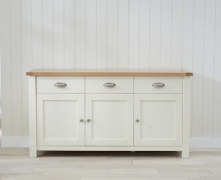Mark Harris Sandringham Oak and Cream Large Sideboard