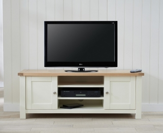 Mark Harris Sandringham TV Unit - Oak and Cream