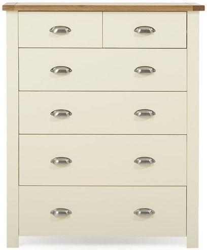 Mark Harris Sandringham Oak and Cream 4 Over 2 Chest of Drawer
