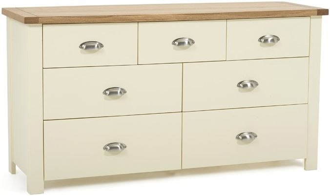 Mark Harris Sandringham Oak and Cream 4 Over 3 Chest of Drawer