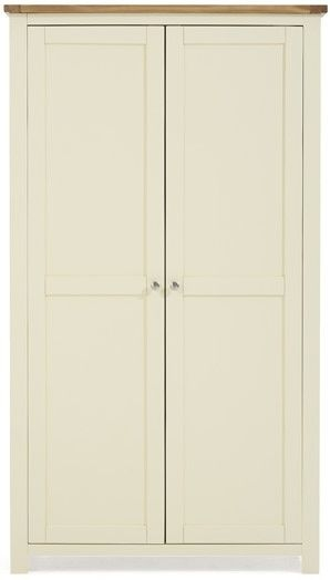 Mark Harris Sandringham Oak and Cream All Hanging Wardrobe