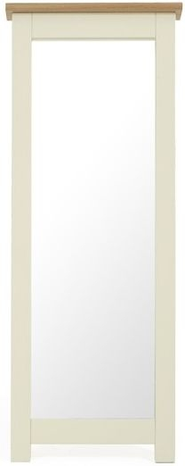 Mark Harris Sandringham Oak and Cream Cheval Mirror