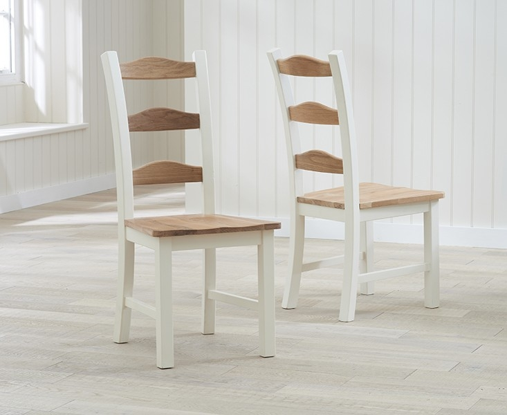 Mark Harris Sandringham Oak and Cream Dining Chair (Pair)