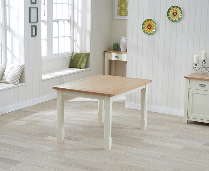Mark Harris Sandringham Oak and Cream Dining Table - 150cm
