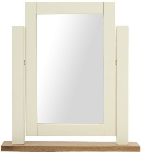 Mark Harris Sandringham Oak and Cream Dressing Table Mirror