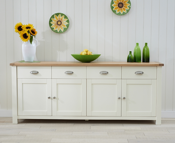 Mark Harris Sandringham Oak and Cream Extra Large Sideboard
