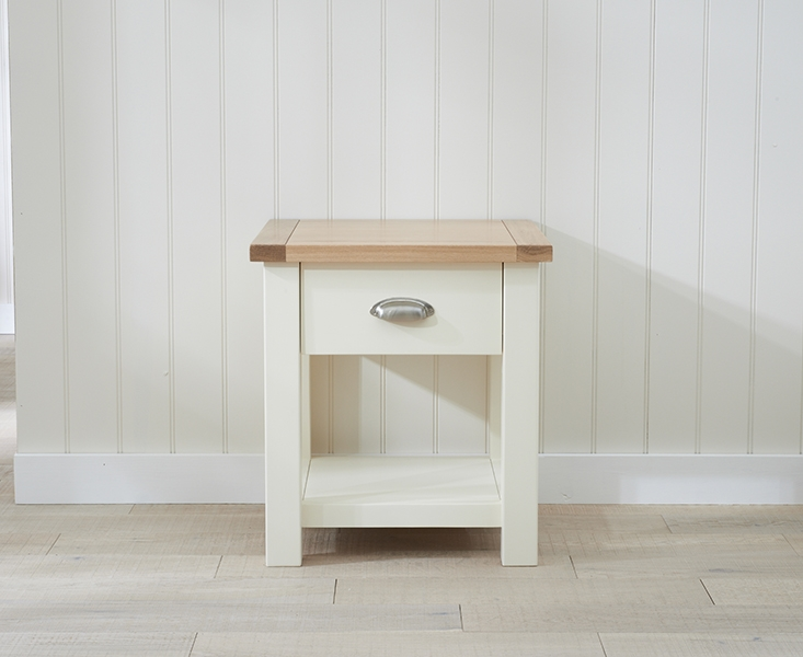 Mark Harris Sandringham Oak and Cream Lamp Table
