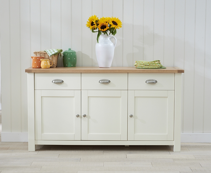 Mark Harris Sandringham Oak and Cream Sideboard - Large